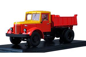 MAZ-205 MOSGORTRANS (USSR RUSSIA) RED/YELLOW | МАЗ-205 САМОСВАЛ МОСГОРТРАНС *МАЗ