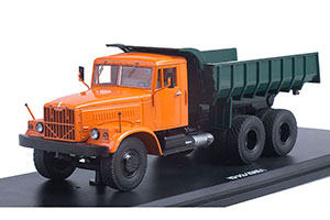 KRAZ-256B1 DUMPER TRUCK 1966 ORANGE/GREEN | КРАЗ-256Б1 САМОСВАЛ *КРАЗ КРЕМЕНЧУГСКИЙ АВТОЗАВОД