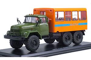ZIL-131 BUS TRUCK KHAKI/ORANGE | ЗИЛ-131 ВАХТОВЫЙ АВТОБУС