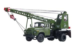 ZIL 130 CRANE AK-75B (USSR RUSSIA) GREEN   ЗИЛ-130 АВТОКРАН АК-75В ХАКИ *ЗИЛ ЗАВОД ИМЕНИ ЛИХАЧЕВА