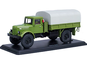 MAZ-502 4x4 ON-BOARD WITH THE TENT OF THE COVER I-90 GREEN (USSR RUSSIAN CAR)   МАЗ-502 4x4 БОРТОВОЙ С ТЕНТОМ ПОКРЫШКИ Я-90 ЗЕЛЁНЫЙ