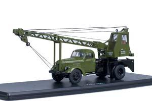 ZIL 164 AK-75 CRANE GREEN (USSR RUSSIA) GREEN | ЗИЛ 164 АВТОКРАН АК-75 НА ШАССИ ЗИЛ-164 *ЗИЛ ЗАВОД ИМЕНИ ЛИХАЧЕВА