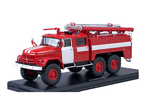 ZIL-131 FIRE ENGINE AC-40 WITH WHITE STRIPES | ЗИЛ 131 АЦ-40 БЕЗ НАДПИСЕЙ ПОЖАРНЫЙ *ЗИЛ ЗАВОД ИМЕНИ ЛИХАЧЕВА