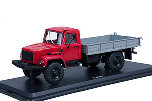 GAZ 33081 4x4 DIESEL DARK RED (USSR RUSSIA)   ГАЗ ГОРЬКИЙ-33081 4x4 (ДВИГ. Д-245.7 DIESEL TURBO) ВЫСТАВОЧНЫЙ