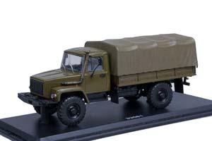 GAZ 33081 D245.7 TURBO DIESEL (USSR RUSSIA)   ГАЗ-33081 4x4 ДВИГ. Д-245.7 DIESEL TURBO С ТЕНТОМ ХАКИ