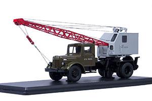 MAZ-200 CRANE K-51 GREEN/GRAY (USSR RUSSIAN CAR) | МАЗ-200 АВТОКРАН К-51 ЗЕЛЕНЫЙ/СЕРЫЙ *МАЗ