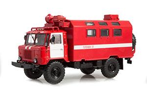 GAZ 66 KUNG K-66 FIRE TRUCK (USSR RUSSIAN) | ГАЗ-66 КУНГ К-66 *ГАЗ ГОРЬКОВСКИЙ АВТОЗАВОД ГОРЬКИЙ