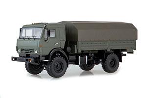 KAMAZ-4350 4x4 MUSTANG WITH TENT (USSR RUSSIAN CAR)   КАМАЗ-4350 4x4 МУСТАНГ С ТЕНТОМ