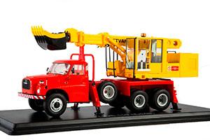 TATRA 148 UDS-110 EXCAVATOR RED/YELLOW | ЭКСКАВАТОР-ПЛАНИРОВЩИК UDS-110 (НА ШАССИ TATRA-148) *ТАТРА