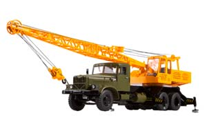 KRAZ-257 CRANE KS-4561 (USSR RUSSIAN) GREEN/YELLOW | КРАЗ 257 АВТОКРАН КС-4561 *КРАЗ КРЕМЕНЧУГСКИЙ АВТОЗАВОД
