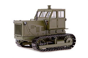 TRACTOR CHTZ-100 METAL TRAKS KHAKI (USSR RUSSIAN)   ТРАКТОР ЧТЗ-100 МЕТАЛЛИЧЕСКИЕ ТРАКИ ХАКИ *ТРАКТОР