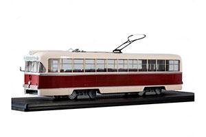 TRAM RVZ 6M2 (USSR RUSSIAN TRAM) RED/WHITE  ТРАМВАЙ РВЗ-6М2 *ТРАМВАЙ