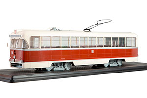 TRAM RVZ 6M2 (USSR RUSSIAN) RED/BEIGE |ТРАМВАЙ РВЗ-6М2 *ТРАМВАЙ