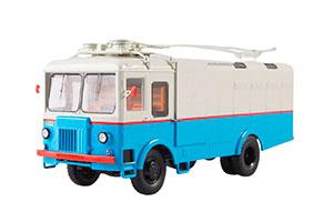 TROLLEYBUS TG-3 CARGO (USSR RUSSIA) WHITE/BLUE | ГРУЗОВОЙ ТРОЛЛЕЙБУС ТГ-3 (БЕЛО-ГОЛУБОЙ) *ТРОЛЛЕЙБУС ТРОЛЕЙБУС