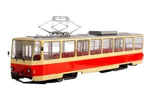 TATRA-T6B5 MOSCOW TRAM (USSR RUSSIA) 1983-1998 RED/YELLOW