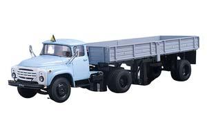 ZIL 130 WITH TRAILER ODAZ 885 (USSR RUSSIA) BLUE/GREY   ЗИЛ-130 С ПРИЦЕПОМ ОДАЗ-885 ГОЛУБОЙ/СЕРЫЙ *ЗИЛ ЗАВОД ИМЕНИ ЛИХАЧЕВА