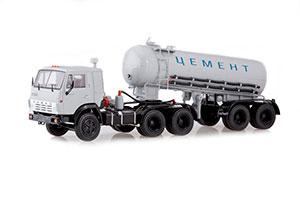 KAMAZ-54112 WITH SEMI-TRAILER-CEMENT CARRIER TC-11 (USSR RUSSIAN CAR) | КАМАЗ-54112 С ПОЛУПРИЦЕПОМ-ЦЕМЕНТОВОЗОМ ТЦ-11 *КАМАЗ КАМСКИЙ АВТОЗАВОД