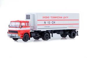 LIAZ 100471 WITH ALKA N13CH SEMI-TRAILER (USSR RUSSIAN CAR) | ЛИАЗ 100471 С ПОЛУПРИЦЕПОМ ALKA N13CH,