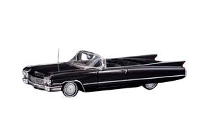CADILLAC SERIES 62 CONVERTIBLE (ОТКРЫТЫЙ) 1960 BLACK