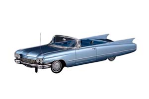 CADILLAC SERIES 62 CONVERTIBLE (ОТКРЫТЫЙ) 1960 LUCERNE BLUE METALLIC