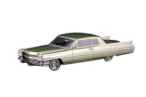 CADILLAC COUPE DEVILLE 1964 LIME METALLIC