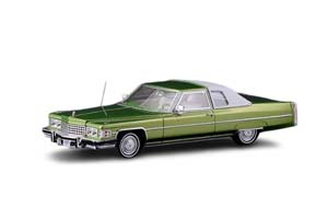 CADILLAC COUPE DEVILLE 1974 PERSIAN LIME FIREMIST