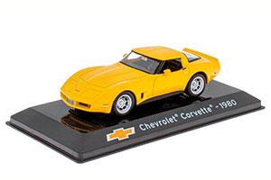 CHEVROLET CORVETTE C3 1980 YELLOW (SUPERCARS SERIA)