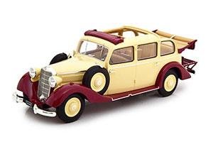 MERCEDES 260D W138 PULLMAN (OPEN) 1936 BEIGE/DARK RED