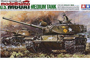MODEL KIT 1/35 AMERICAN PANZER M60A1 WITH ONE FIGURE | 1/35 АМЕРИКАНСКИЙ ТАНК M60A1 С ОДНОЙ ФИГУРОЙ