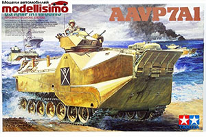 MODEL KIT AMERICAN APCS MARINES US MARINE AAVP7A1 W/UGWS | АМЕРИКАНСКИЙ БРОНЕТРАНСПОРТЕР МОРСКОЙ ПЕХОТЫ U S MARINE AAVP7A1 W/UGWS *СБОРНАЯ МОДЕЛЬ