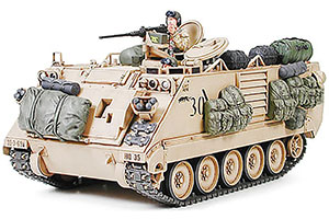 MODEL KIT AMER BRONETRANSPORTER M113A2 C 127MM MACHINE GUN (ARMORED PERSONNEL CARRIER DESERT VERSION) WITH 2 FIGURES | АМЕР БРОНЕТРАНСПОРТЕР M113A2 С 127ММ ПУЛЕМЕТОМ (ARMORED PERSONNEL CARRIER DESERT VERSION) С 2-МЯ ФИГУРАМИ *СБОРНАЯ МОДЕЛЬ