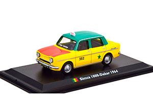 SIMCA 1000 TAXI DAKAR 1964 YELLOW/GREEN/RED *СИМКА