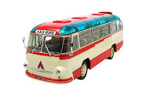 LAZ-695B CITY 1958-1964 BEIGE/RED