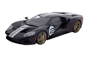 FORD GT NO 2 ANNIVERSARY EDITION 2016 BLACK SILVER LIMITED EDITION 1000 PCS FOR USA