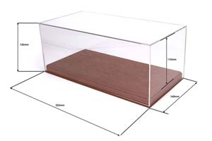 Showcase Display Box 1/18 Or 1/24 With Leather Base (325x167x137 mm.) Кожа 2017