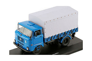IFA V50 L FLATBED TRUCK 1983 BLUE WITH A GRAY AWNING (LENINGRAD)