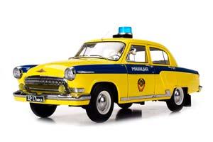 GAZ 21P VOLGA POLICE (USSR RUSSIAN) 1969 YELLOW/BLUE LIMITED 504 PCS. | ГАЗ-21Р ВОЛГА ГАИ МИЛИЦИЯ *ГАЗ ГОРЬКОВСКИЙ АВТОЗАВОД ГОРЬКИЙ