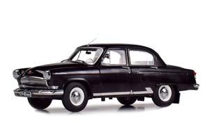 GAZ 21P VOLGA (USSR RUSSIAN) 1966 BLACK LIMITED 504 PCS. | ГАЗ-21Р ВОЛГА 1966 BLACK (НОМЕР 19-40 ЛЕН) ТИРАЖ 504 ШТ.