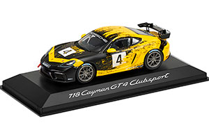 PORSCHE 718 CAYMAN GT4 CLUBSPORT (982) 2020 BLACK/YELLOW