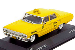 FORD GALAXIE 500 NEW YORK TAXI 1967 YELLOW *ФОРД ФОРТ