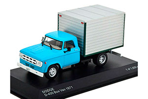 DODGE D-400 BOX VAN 1971 LIGHT BLUE/GREY *ДОДЖ