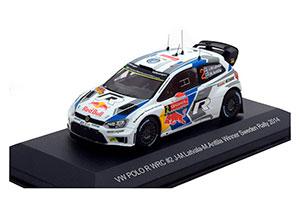 VW VOLKSWAGEN POLO R WRC #2 VOLKSWAGEN MOTORSPORT RED BULL RALLYE WM RALLYE SCHWEDEN 2014 J-M.LATVALA/M.ANTTILA *ФОЛЬКСВАГЕН ФОЛЬЦВАГЕН