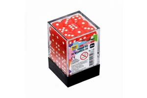 TABLE GAME SET OF RED GAME CUBES 36D6 | НАБОР КРАСНЫХ ИГРОВЫХ КУБИКОВ «36D6» *СБОРНАЯ МОДЕЛЬ