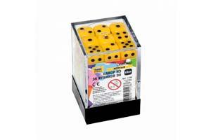 TABLE GAME SET OF YELLOW GAME CUBES 36D6 | НАБОР ЖЕЛТЫХ ИГРОВЫХ КУБИКОВ «36D6» *СБОРНАЯ МОДЕЛЬ