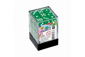 TABLE GAME SET OF GREEN GAME CUBES 36D6 | НАБОР ЗЕЛЕНЫХ ИГРОВЫХ КУБИКОВ «36D6» *СБОРНАЯ МОДЕЛЬ