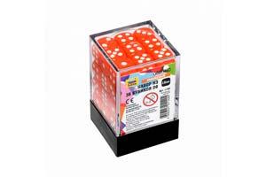 TABLE GAME SET OF ORANGE GAME CUBES 36D6 | НАБОР ОРАНЖЕВЫХ ИГРОВЫХ КУБИКОВ «36D6» *СБОРНАЯ МОДЕЛЬ