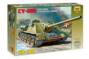 MODEL KIT PANZER TANK DESTROER SU-100 TANK | СОВЕТСКИЙ ИСТРЕБИТЕЛЬ ТАНКОВ СУ-100 *СБОРНАЯ МОДЕЛЬ
