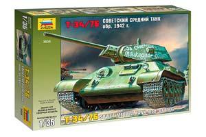 MODEL KIT SOVIET MEDIUM PANZER T-34/76 (OBR. 1942) | СБОРНАЯ МОДЕЛЬ СОВЕТСКИЙ СРЕДНИЙ ТАНК Т-34/76 (ОБР. 1942 Г.)