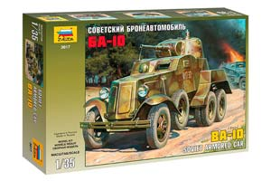 MODEL KIT BA-10 SOVIET ARMORED CAR | СБОРНАЯ МОДЕЛЬ СОВЕТСКИЙ БРОНЕАВТОМОБИЛЬ БА-10 *СБОРНАЯ МОДЕЛЬ