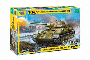 MODEL KIT PANZER TANK T-34-76